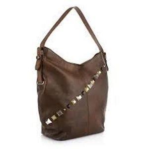 """Diesel """"Studsaround"""" Adhora brown leather bag NWT"""